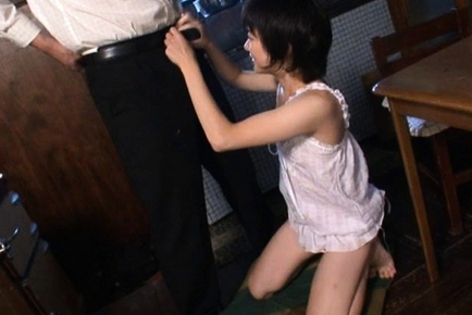 Aoba Itou Asian beauty fondles her pussy while sucking cock