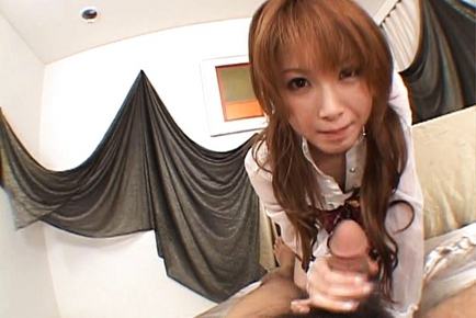Rika Sakurai Japanese model is a beauty and likes showing off her hairy pussy