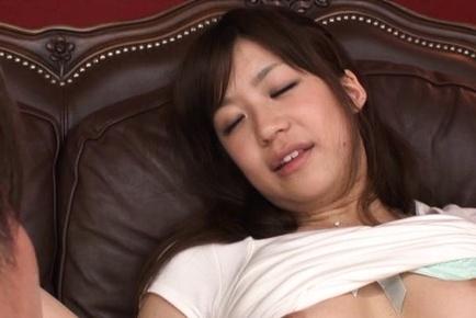 Teen Cutie Rino Nanse Masturbates With A Little Help