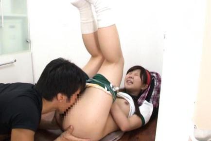 Yun Kurihara gives a hot blowjob and gets fucked hard