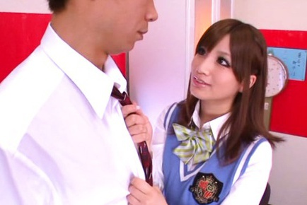 Schoolgirl Erika shibasaki fantasizes about fucking her teacher