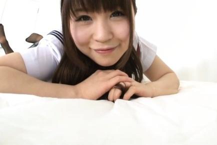 Attractive Tokyo girl Honoka Minami teases hard dick