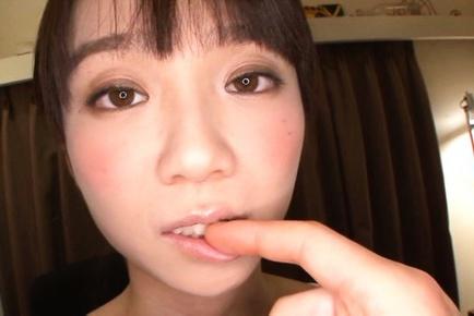 Sexy Hasuka Hoshino likes toys in her hairy pussy