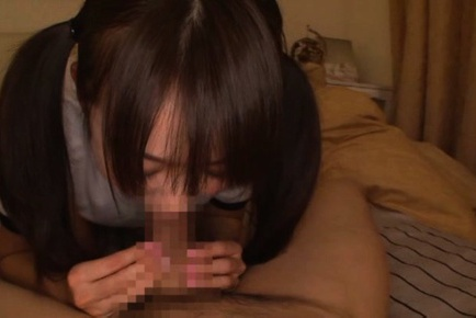 Young Asuka Hoshino sucks cock and enjoys it