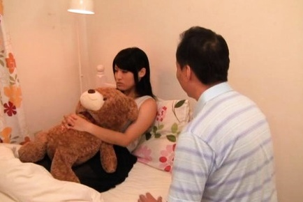 Erotic fantasies of pretty Japanese teen girl come true