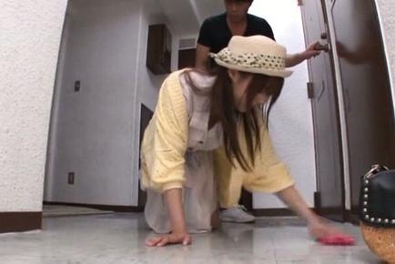 Arousing Rina Rukawa plays nasty with stanger