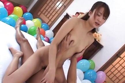 Suzue Mona blows cock and fucks in hardcore