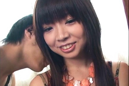 Anna Oguri amateur Japanese threesome sex show