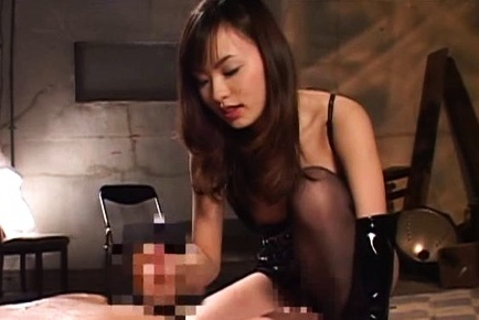 Amazing foot fetish porn show with hot Japanese AV model
