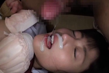 Beautiful babe Kitano Nozomi gets a creamy facial