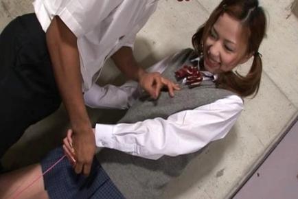 Risa Coda Hot Asian teen is a schoolgirl